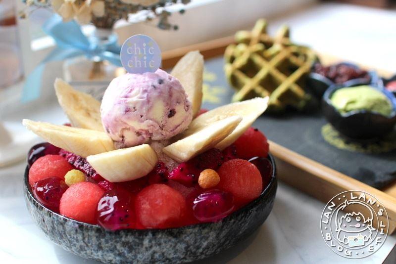 板橋冰品 【Chic Chic】板橋下午茶咖啡廳 繽紛又消暑的冰品 鬆餅