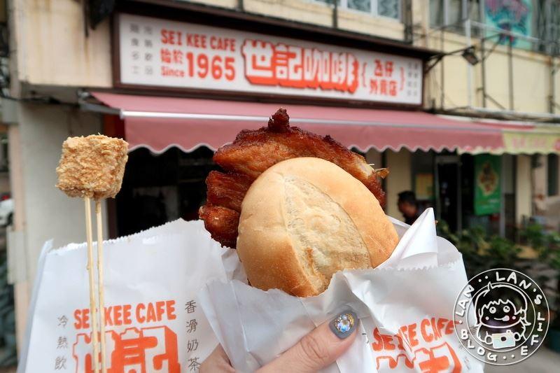 官也街美食 【世紀咖啡】 必吃花生方塊 豬扒包也不錯!