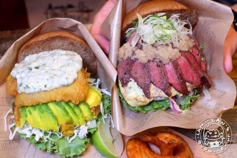 板橋漢堡 【角落utopia】 160起平價大份量漢堡 經典牛肉大推 牡蠣 鮮魚 炸蝦超難抉擇!